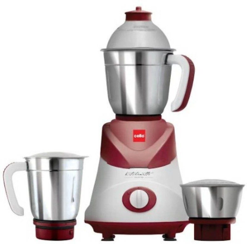 Cello Swift 500 W Mixer Grinder (Maroon, 3 Jars) 500 W Mixer Grinder(Maroon, 3 Jars)