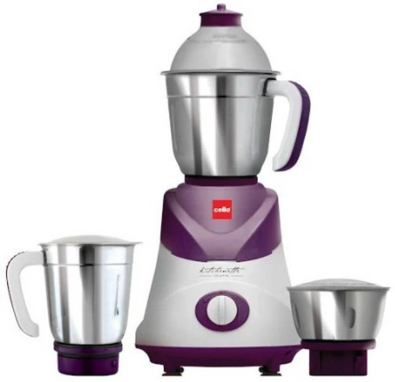 Cello Swift 500 W Mixer Grinder 500 W Mixer Grinder(Violet, 3 Jars)