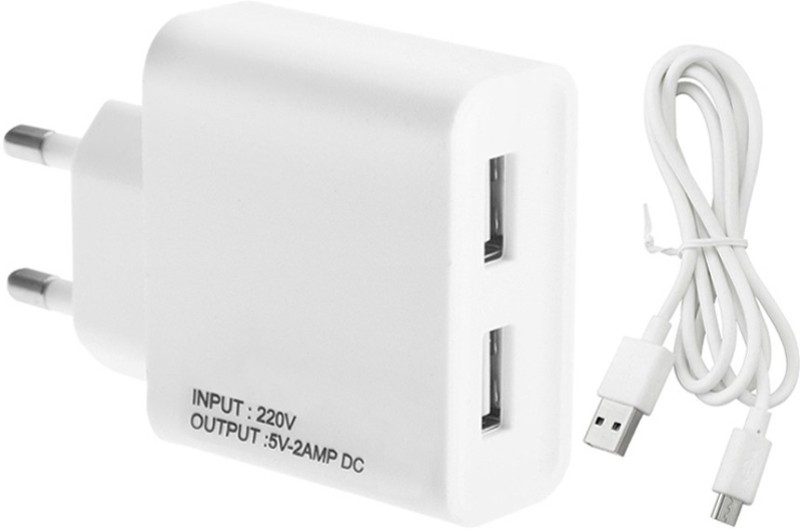 ESN 999 PO A77 2 A Multiport Mobile Charger with Detachable Cable(White, Cable Included)