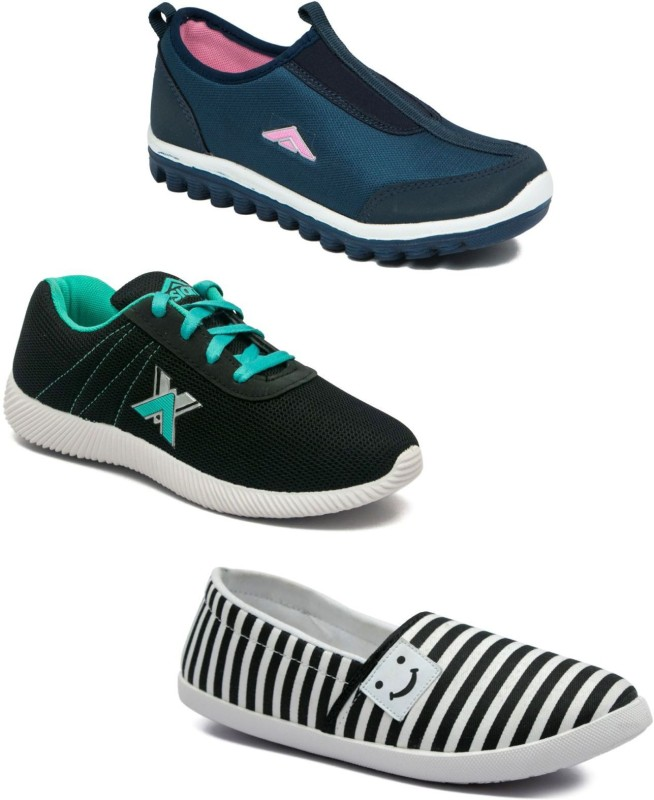 Asian Women Casual & Running Shoes Combo Pack of 3 Walking Shoes For Women(Multicolor)