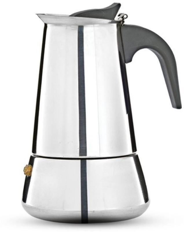 Pigeon Coffee perculator xpresso -4 4 Cups Coffee Maker(Silver)
