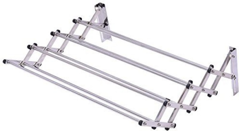 Orril Carbon Steel Wall Cloth Dryer Stand(White)