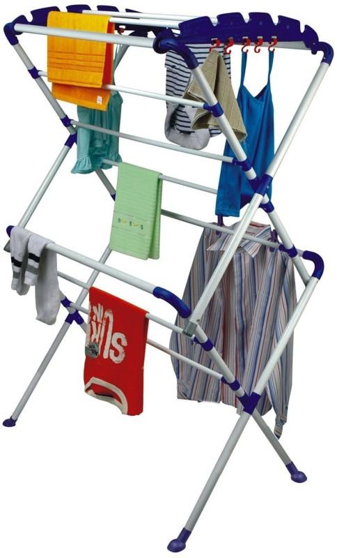 Orril Carbon Steel Floor Cloth Dryer Stand(White)