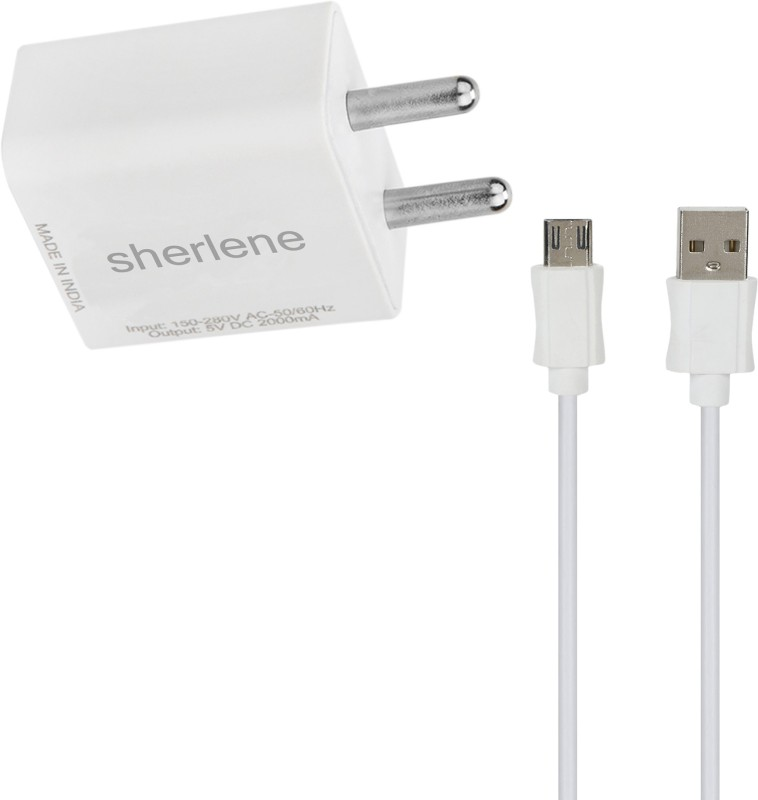 SHERLENE 2A. FAST CHARGER &SYNC/DATA CABLE 2 PRIME 5 1 A Mobile Charger with Detachable Cable(White, Cable Included)