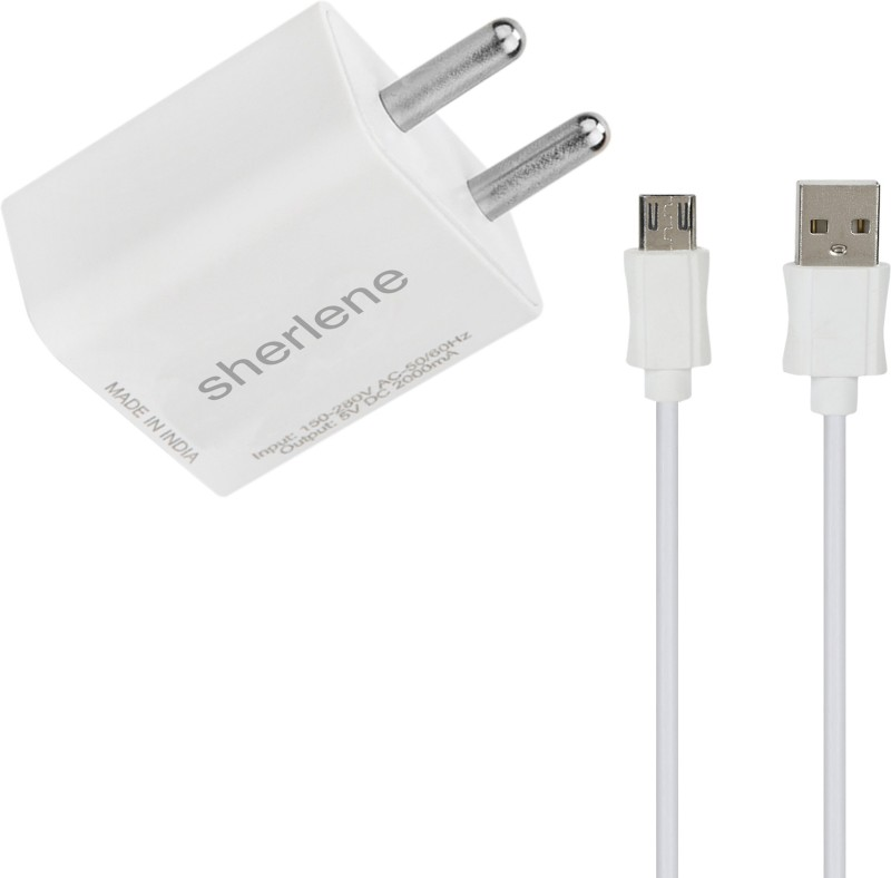 SHERLENE 2A. FAST CHARGER &SYNC/DATA CABLE A1 5 1 A Mobile Charger with Detachable Cable(White, Cable Included)