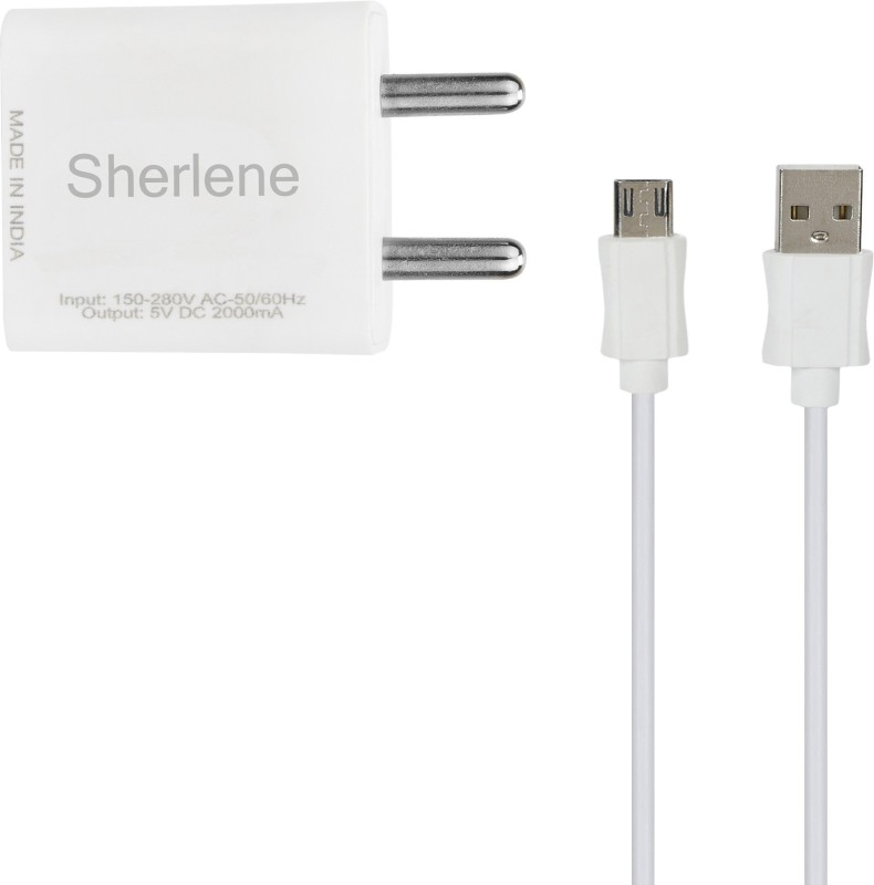 SHERLENE 2A. FAST CHARGER &SYNC/DATA CABLE NOTE LTE 5 1 A Mobile Charger with Detachable Cable(White, Cable Included)