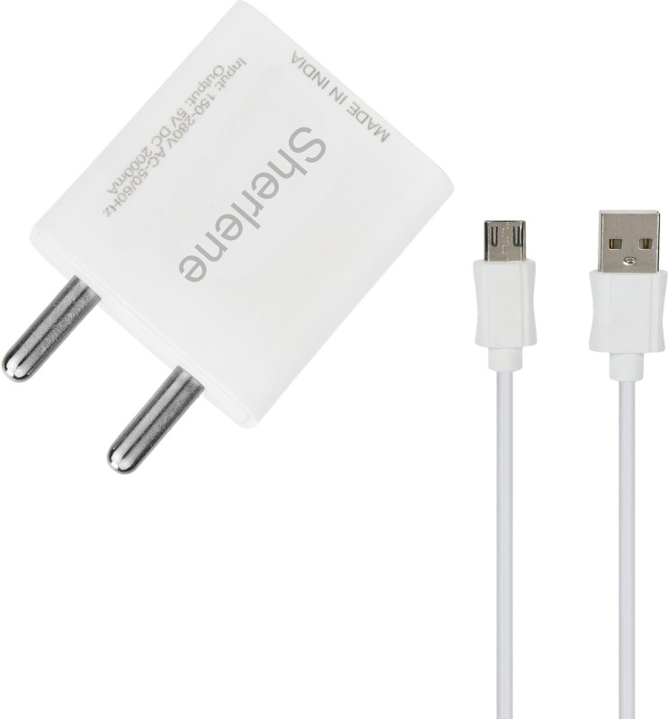 SHERLENE 2A. FAST CHARGER &SYNC/DATA CABLE MAX PRIME 5 1 A Mobile Charger with Detachable Cable(White, Cable Included)