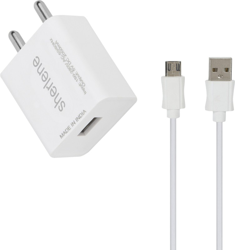 sherlene 2A. FAST CHARGER &SYNC/DATA CABLE FOR ELUGA U 1 A Mobile Charger with Detachable Cable(White, Cable Included)
