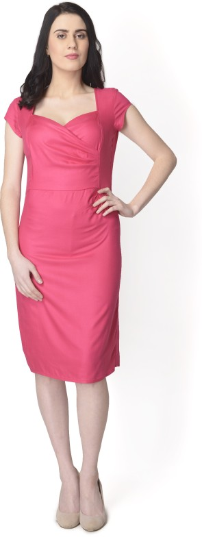 Yaadleen Women Sheath Pink Dress