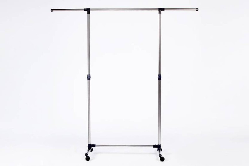 Sri Single-pole Telescopic movable houseware portable clothes rack / Clothes rack Stainless Steel Floor Cloth Dryer Stand(Multicolor)