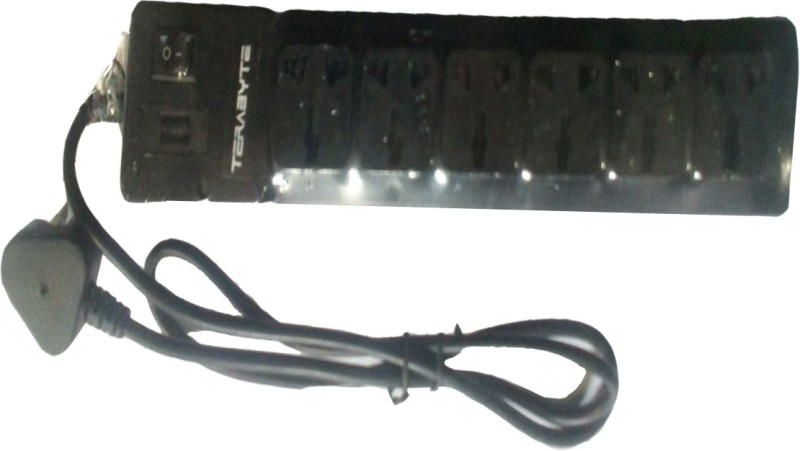 Terabyte EXTENSION BOARD 5 METER WITH 7 PORTS 7  Socket Extension Boards(Black)
