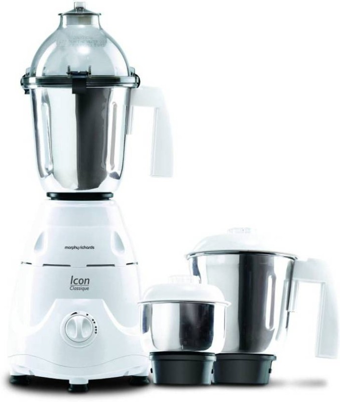 Morphy Richards NEW Icon Classique 750 W Mixer Grinder(White, 3 Jars)