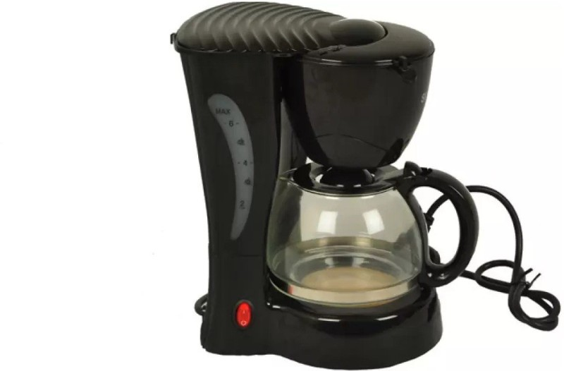 Grizzly best quality cup 6 Cups Coffee Maker(Multicolor)