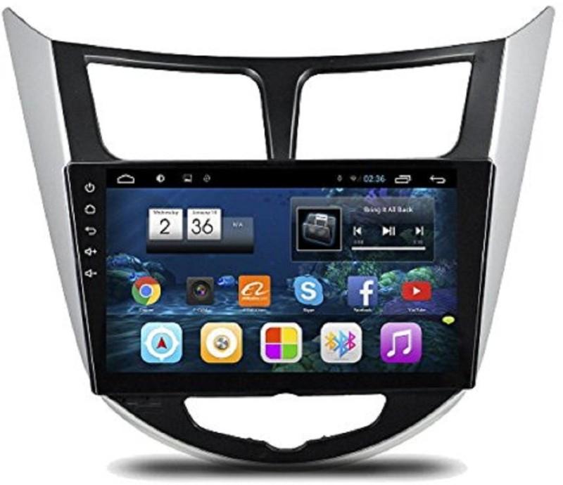 "Silver HYUNDAI VERNA 10"" inch Android GPS Navigation Car Stereo(Double Din)"