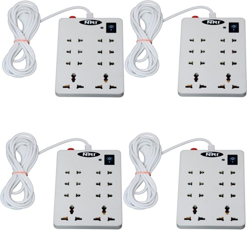 POWERNRI 8+1 (4 PCS) 8  Socket Extension Boards(White)