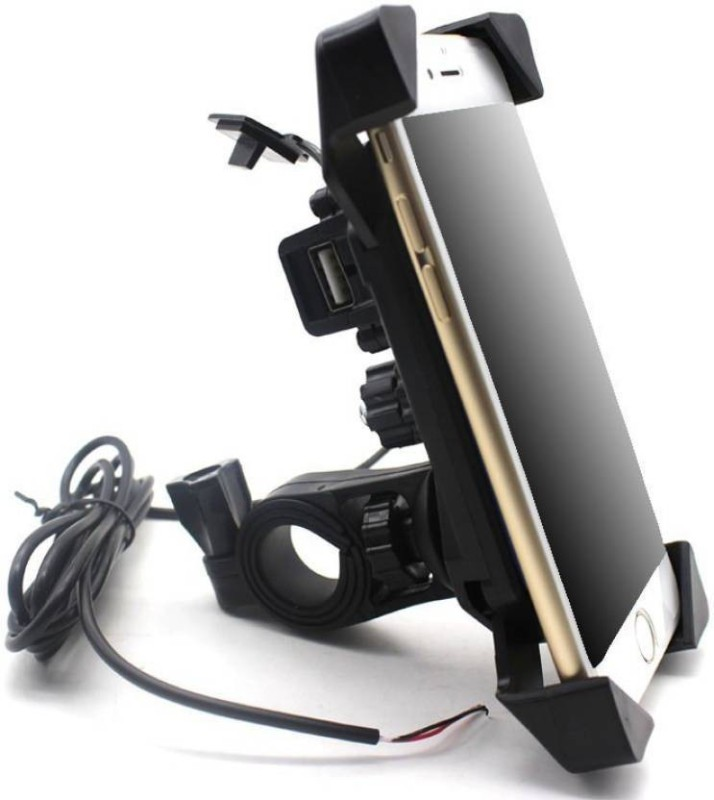 Aayatouch Motorcycle Phone Holder with USB Charger 360 rotation 5 A Bike Mobile Charger