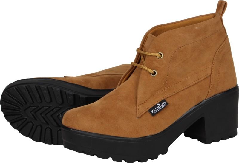 FASHIMO Women Casual Boots For Women(Tan)