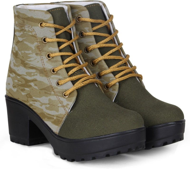 FASHIMO Boots For Women(Olive)