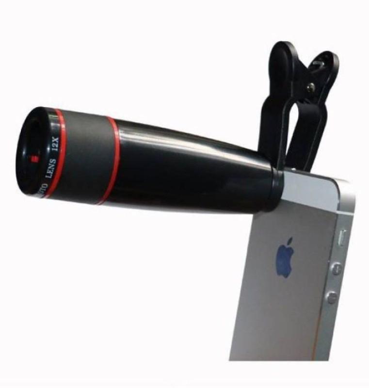 Piqancy 12X Zoom Mobile Phone Telescope Lens with Adjustable Clip Mobile Phone Lens Mobile Phone Lens