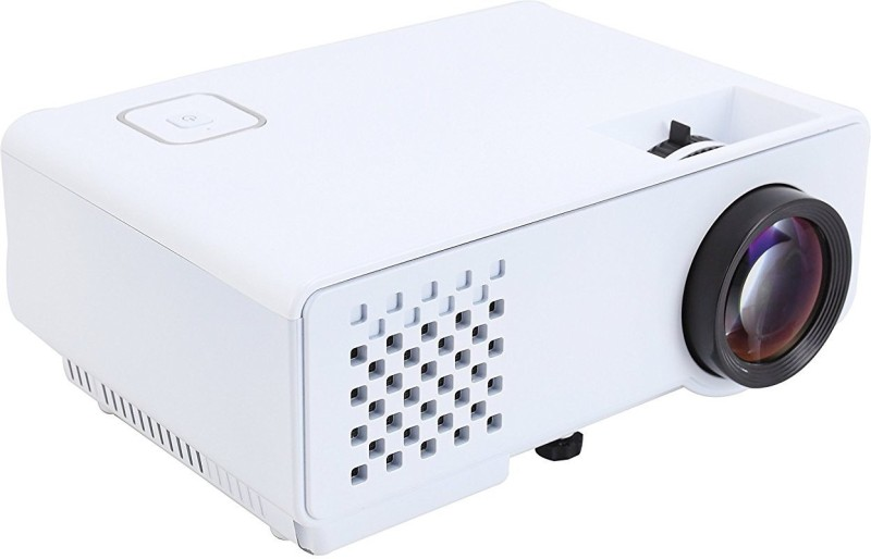 Myra M810 LED Projector 1000 Lumens, 800*480, Support 1080P, HDMI, VGA, AV, USB, Anaglyph 3D Support Portable Projector(White)