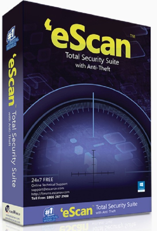 ESCAN Total Security 10.0 User 1 Year(CD/DVD)