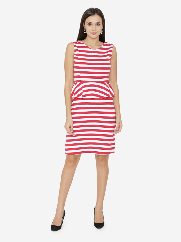 Yaadleen Women A-line Red Dress