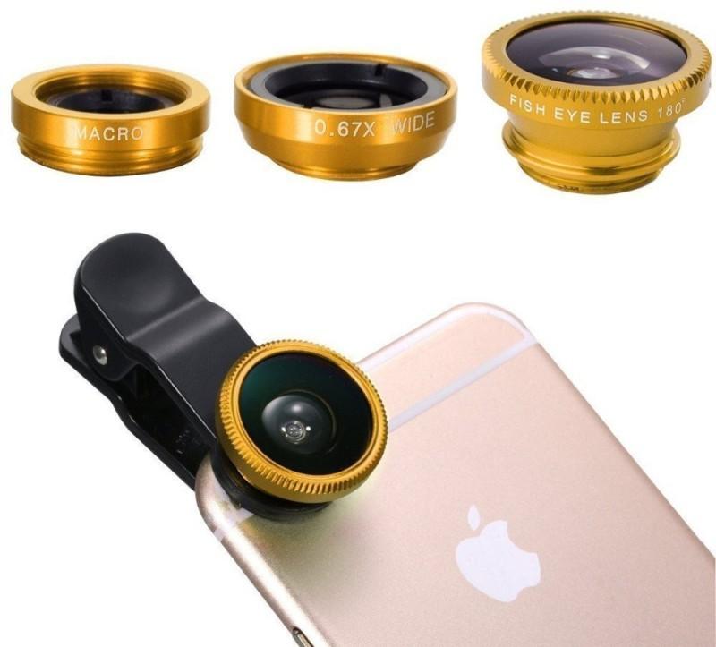 LS Letsshop Universal Clip Lens For Camera Mobile Phone Lens (Wide and Macro)019 Mobile Phone Lens