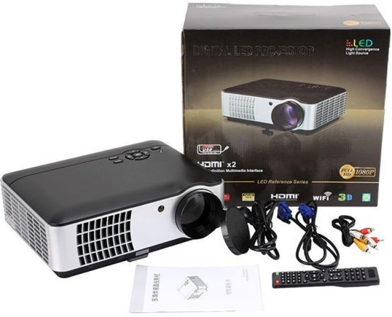 woxan Wx-02 Android Portable Projector(Black)