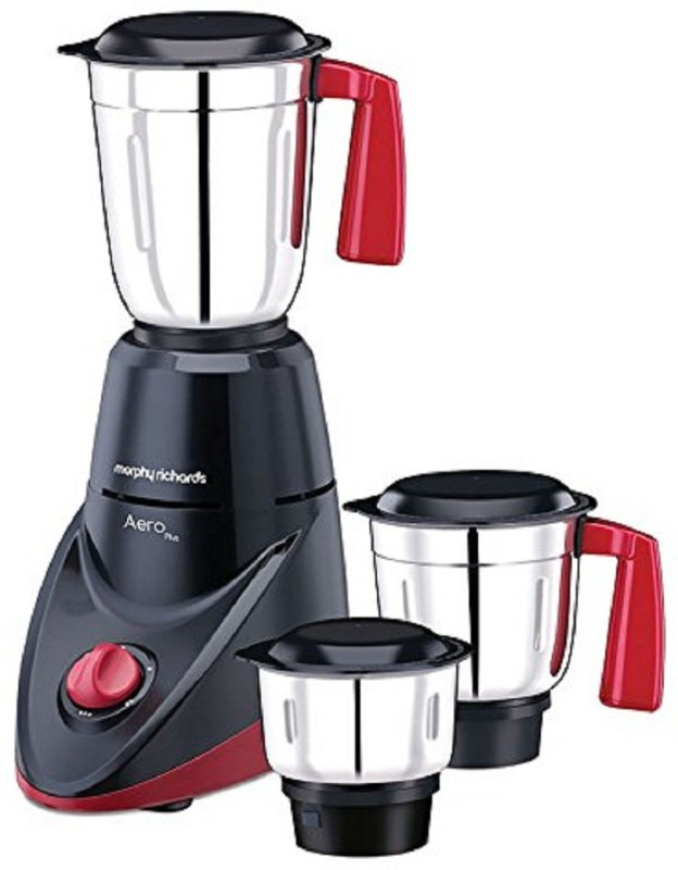 Morphy Richards Aero Plus Black Aero Plus Mixer Grinder 500 Watt Black 600 Mixer Grinder(Black, 2 Jars)