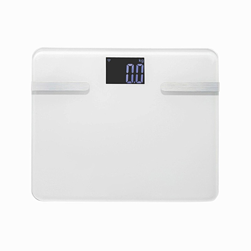 Maxbell Bluetooth Connection Ultrathin Mini Smart LCD Display for IOS & Android Weighing Scale(White)