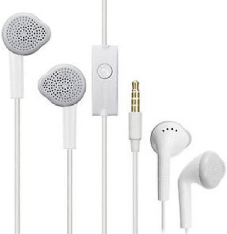 SHOWKING Latest Handsfree compatible Samsung YS and all Android Mobile 3.5mm jack Earphone All smartphones. Wired Headset with Mic (White, On the Ear) Earphone Cable Organizer
