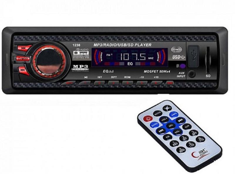 DealT Car Stereo Media mp3 Music System Player (FM/AUX/USB/MMC) Car Stereo(Single Din)