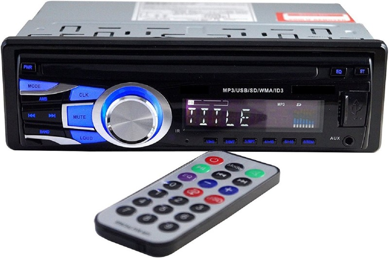 DealT Car Stereo Media MP3 Music System Player with Dual USB (FM/AUX/MMC) Car Stereo(Single Din)