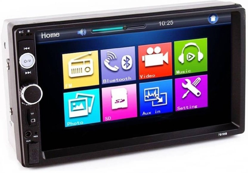 Yobat 7 Inch Apple Mirror Link Multimedia Player FullHD/MP3/MP5/USB Stereo with Dual Display Car Stereo(Double Din)