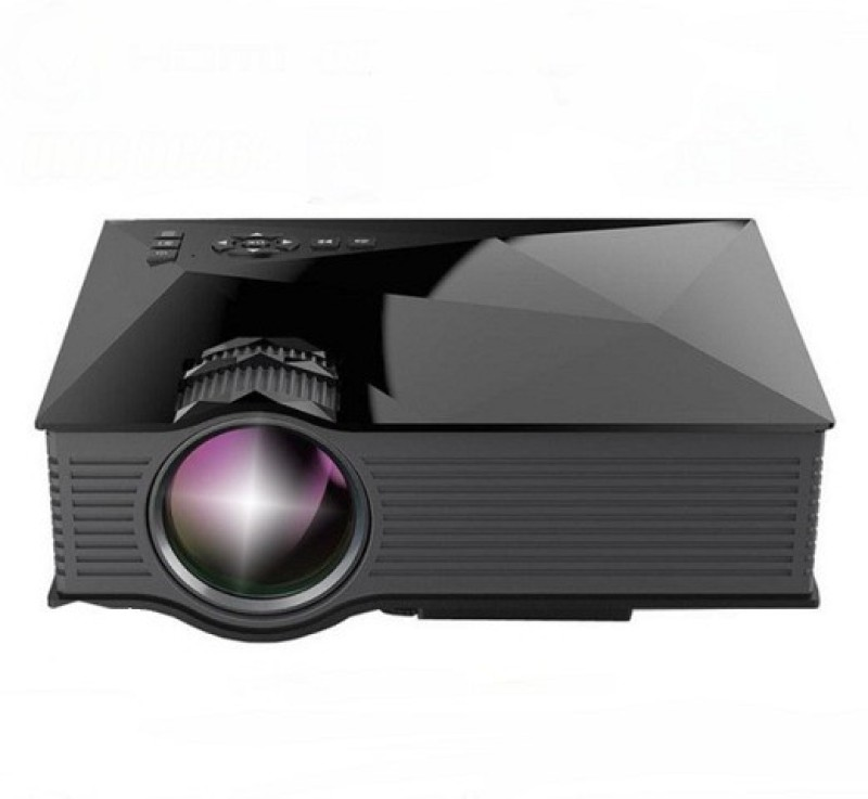 Qawachh Mini Home Theater Cinema Video Projector with Stand (Black Colour) Portable Projector(Black)