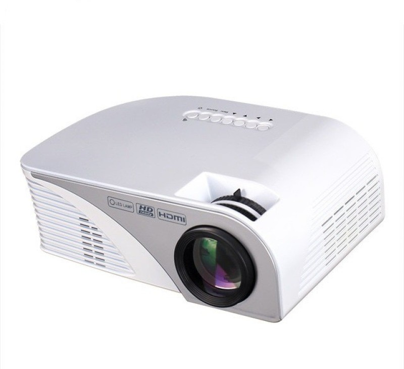 Miracle digital LCD PROJECTION SYSTEM/LED LAMP/WITH HDMI/USB/AV/VGA/1200 LUMENS/1080P 1200 lm LCD Corded Portable Projector(White)