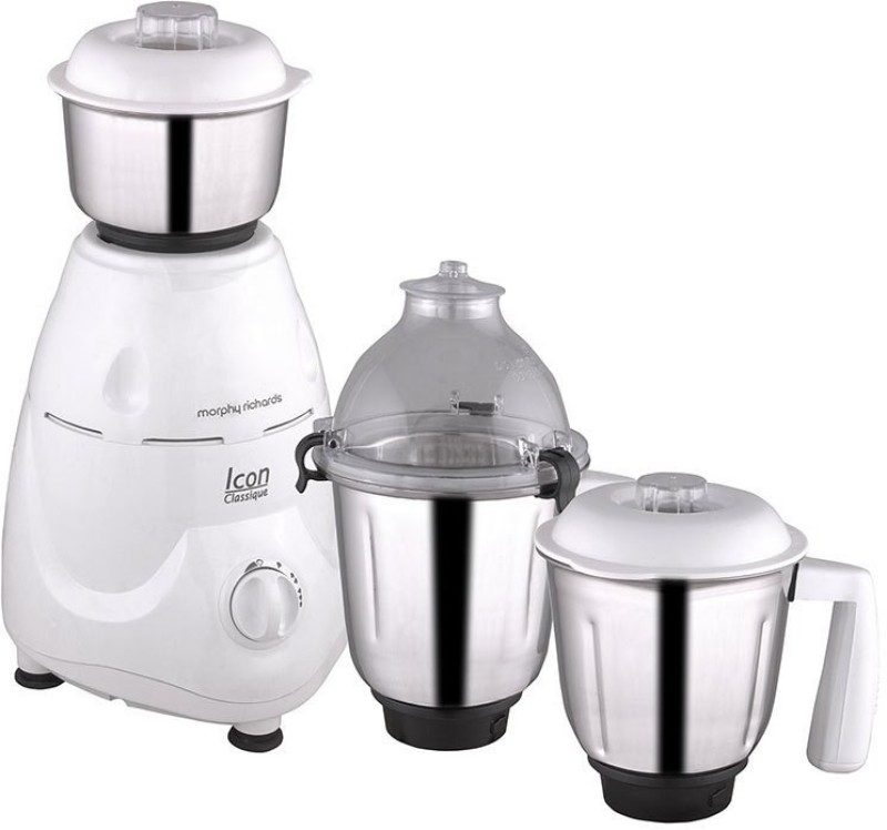 Morphy Richards Icon Classique 750 Mixer Grinder(White, 3 Jars)