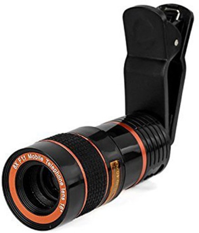 OSRAY Camera Lens,Clip-on 8x Optical Zoom HD Telescope Camera Lens Mobile Phone Lens