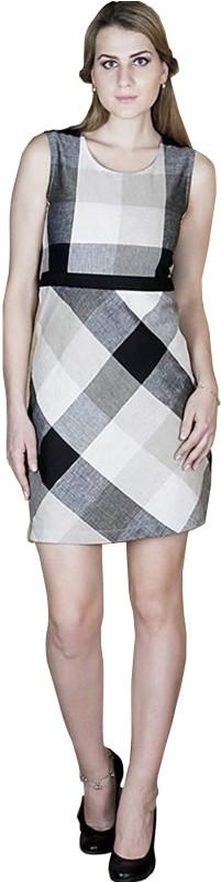 Favish Women Sheath White, Black, Grey Dress