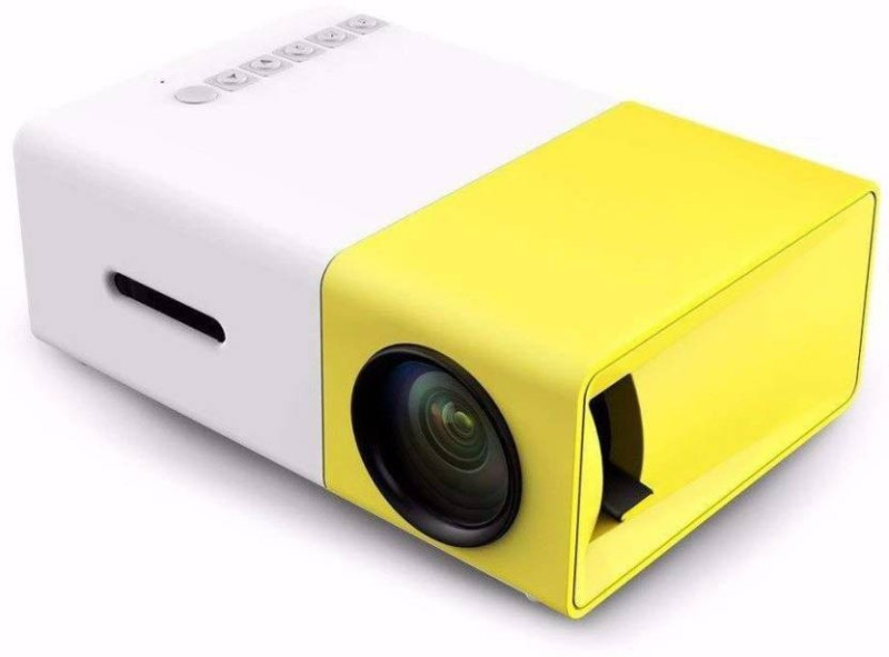 NICK JONES Mobiles LED Projector 600 lm LED Corded Mobiles Portable Projector High Resolution Ultra Portable 1080p HD Led Mini Projector 600 lm LED Corded Mobiles Portable Projector(White, Yellow)