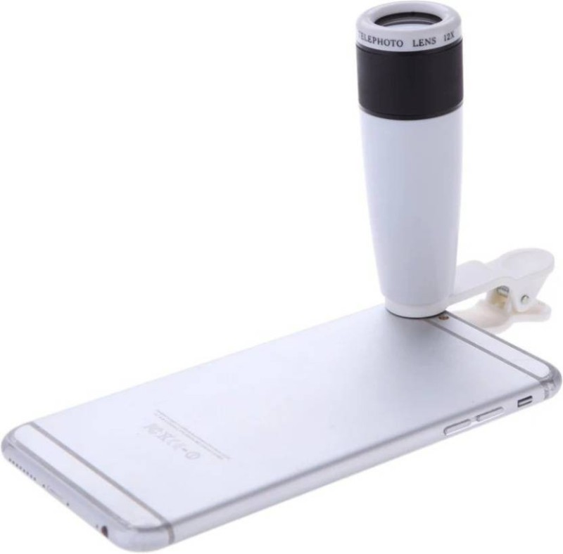 Rexter Premium Quality High Definition 12X Universal Mobile Clip Lens for Telephoto Mobile Phone Lens (Telephoto) Mobile Phone Lens