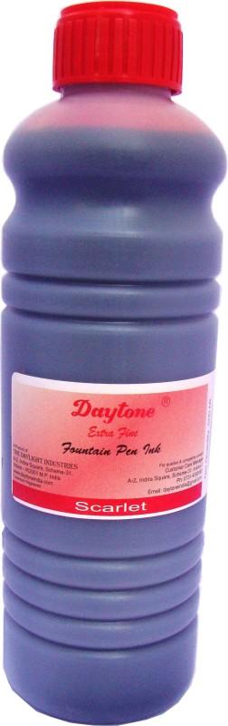 Daytone Extra Fine Scarlet Red 500 Ml. Pack of 2 Ink Bottle(Pack of 2)