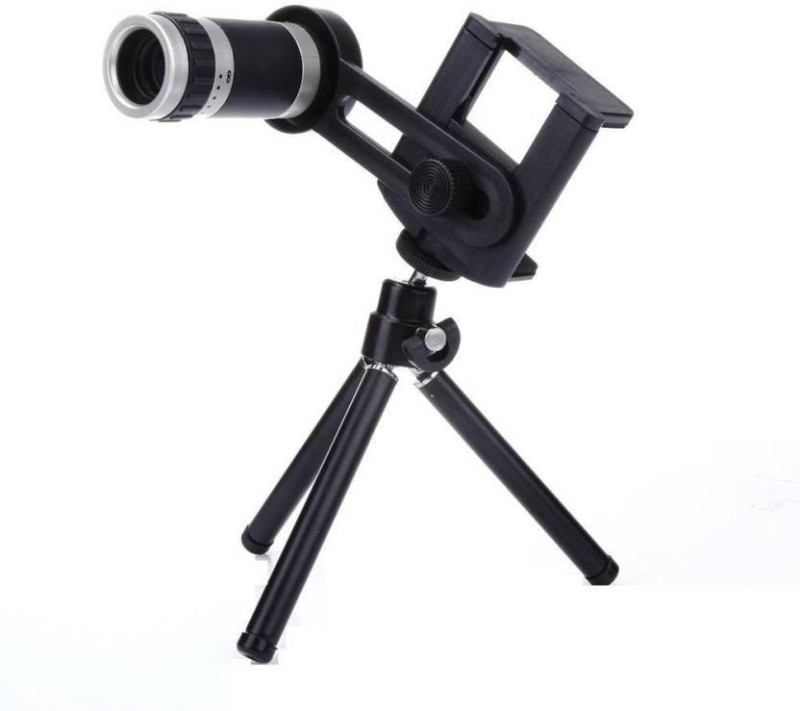 TSV 8Xlens Tripod Universal Mobile Camera Lens With Tripod & Holder | 8X Optical Zoom, Compatible With All Mobile Phones Tripod Mobile Phone Lens