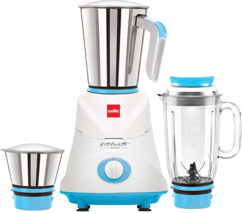 Cello Grind N Mix Ertiga Blue 500 Mixer Grinder(Blue White, 3 Jars)