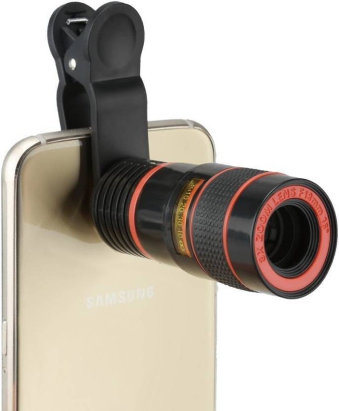DILURBAN Universal 8X Zoom Mobile Phone Telescope Clip Lens Phone Camera Lens, Telescope 8X Camera Lens HD Optical Zoom Telescope Lens for Cell Phone Optical Lens Magnifier UL07 Mobile Phone Lens