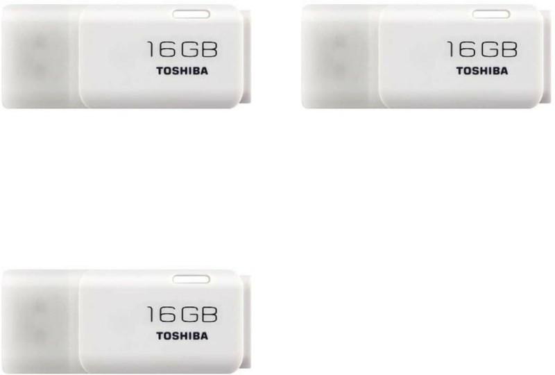 Toshiba USB 2.0 U-202 16 GB Pen Drive(White)
