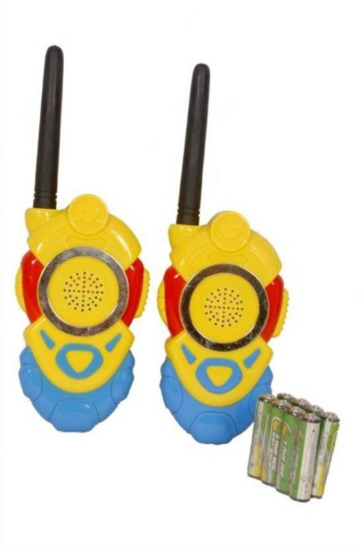 HILY Minion Walkie Talkie Set With Batteries 2 PCS Set Portable Electronic Radio With Clear Sound & Long Range Toy For Kids