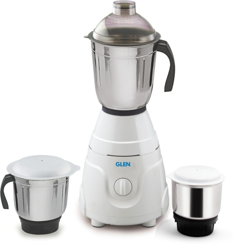 GLEN GL 4021 550 W Mixer Grinder(White, 3 Jars)