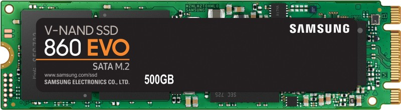 Samsung 860 EVO 500 GB Laptop, All in One PC's, Desktop Internal Solid State Drive (MZ-N6E500BW)