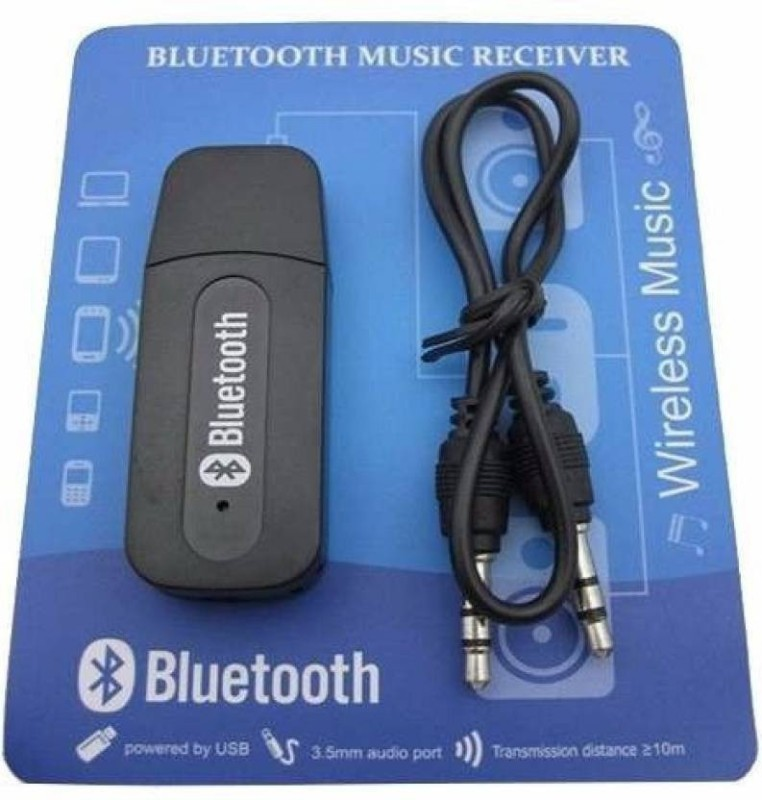 Omniversal v2.1+EDR Car Bluetooth Device with Audio Receiver(Black)